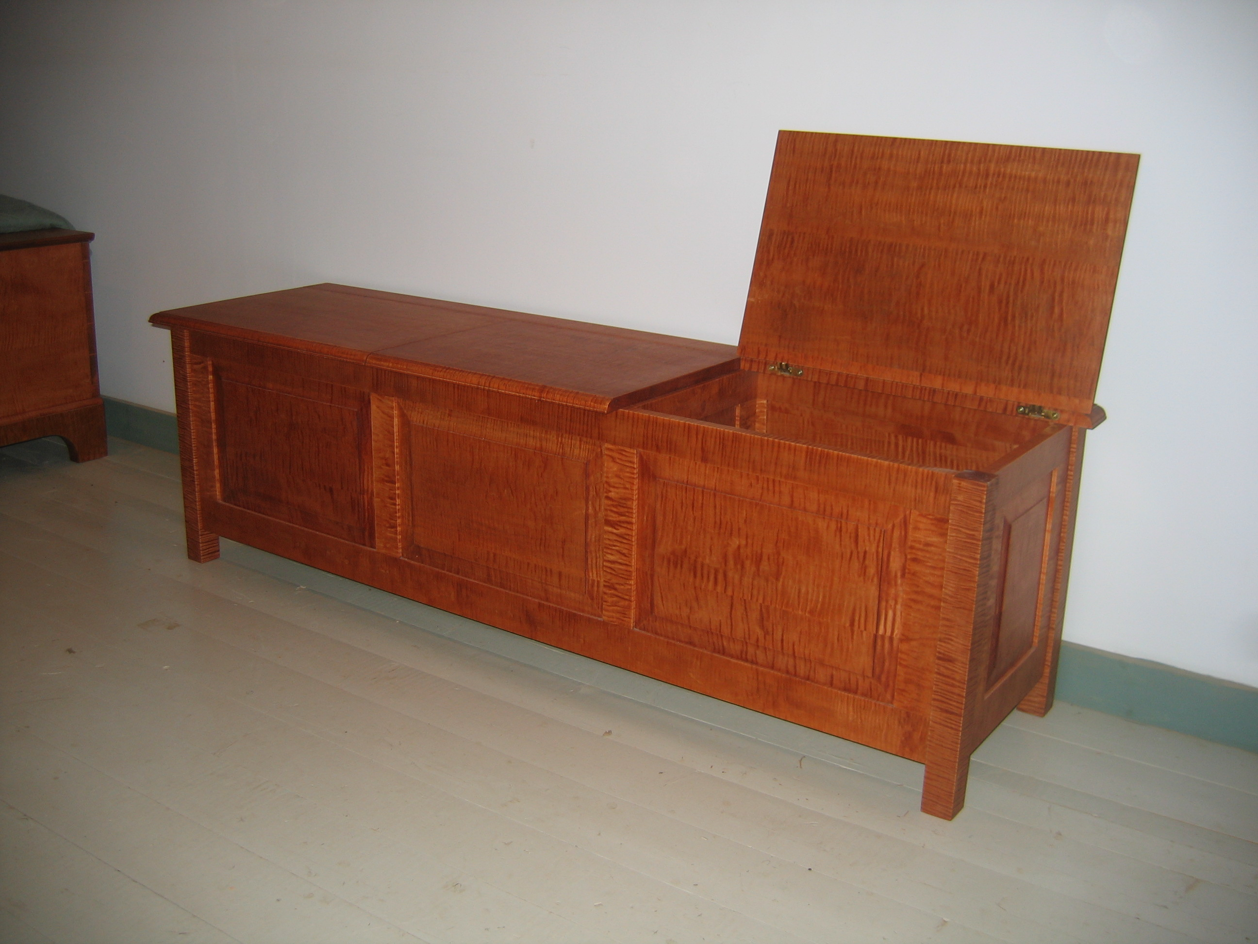 Custom Storage Bench With 3 Compartments