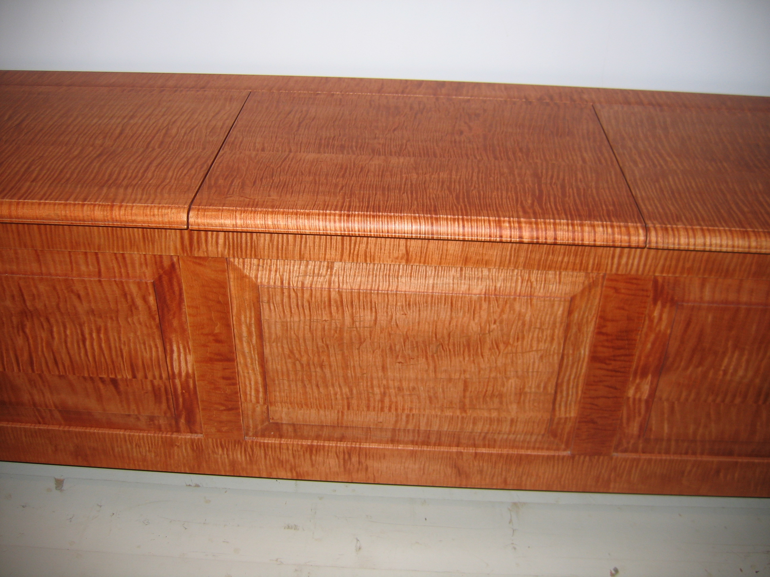 Elegant Highly Figured Curly Maple Bench