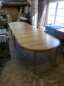 solid cherry extra long extension table